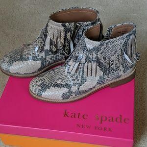 Kate Spade Short Boots Snake Print Size 7.5